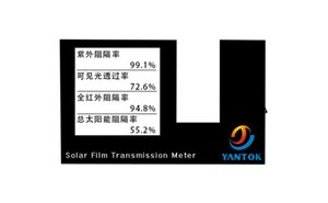 Espectro de transmissão do medidor de vidro Transmissão película solar tester de isolamento YT-TM106 calor muito barato