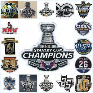 7 Piezas / Lot, 2018 Stanley Cup Final Champions capitales de Washington Patch Ottawa Senators 25 de Vegas Golden Knights Patch temporada inaugural