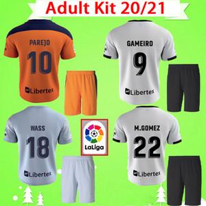 Kit para adultos 2020 2021 Valencia CF Fútbol jerseys establece RODRIGO GAYA 20 21 PAREJO Gameiro camisetas de fútbol para hombre M.GOMEZ Kondogbia conjunto Uniformes