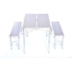Tragbare Aluminium Picknick-Tisch Klapptisch für die Außen kampierenden leichte langen weiße Farbe im Freien Klapptisch und Stühle