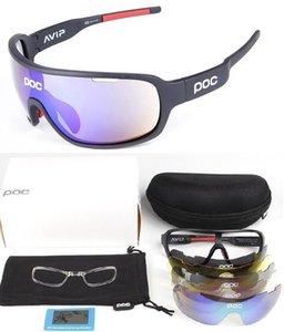 новый POC 4 линзы Велоспорт очки велосипед спортивные солнцезащитные очки Мужчины Женщины горный велосипед цикл очки lentes de sol para открытый очки