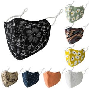 Neue Designer-Gesichtsmaske erwachsene Frauen Art und Weise wiederverwendbare Gesichtsmasken Adjustable Ohr Schnalle atmungsaktiv Halloween-Schablone staub- waschbar