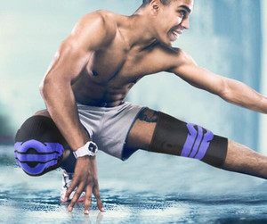 оптовые мужчины женщины Обучение Kneepad Баскетбол коленного бандажа сжатия колена Pad Вязаные Compression Упругие Колено рукава футбол футбол Pad