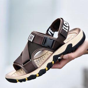 herrenmode große größe strand sandalen draußen gehen reise sommer schuhe wohnungen öffnen zehe sandale sandale homme sandalia sandaly