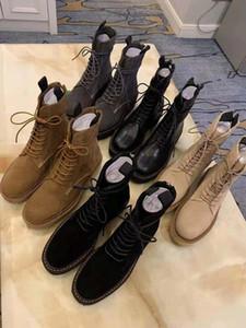 Luxury Martin boots 100% Leather platform Bandage woman shoes 2019 Designer Suede Short boots Ladies shoes zipper Fashion Bare boots 35-41