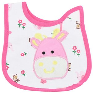 2019 New Baby Saliva Towel Cotton Cartoon Bib U-shape 3-layer Waterproof Kids Toddler Lunch Bibs Infant Baby Saliva Animal Towel