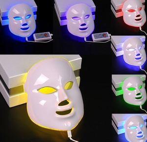 Sağlık Güzellik 7 Renkler Işıklar LED Foton PDT Yüz Maskesi Yüz Cilt Bakımı Gençleştirme Terapi Cihazı Taşınabilir Ev Kullanımı