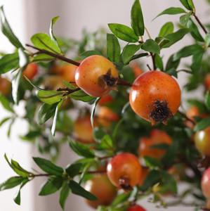 ramas de la fruta artificial Árbol artificial fruta de la granada de flores baya flor de simulación falsa boda de decoración del hogar LXL1022-1