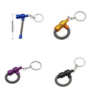 Pipe Métal Spring Pipes Portable fumeurs Boucle clé amovible Femmes et Homme Populaire Hot Sale 3 1YH UU