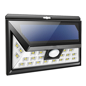 24 LED الإضاءة الشمسية في الهواء الطلق استشعار الحركة في الهواء الطلق حديقة واسعة زاوية الجدار مصباح للحديقة، كراج، المؤخرة، يارد