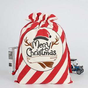 36 estilos Bolsas de regalo de Navidad Papá Noel Viga de protección ambiental Bolsa de lona 50 * 70 cm Bolsas de regalo de Navidad personalizado alces caramelo M132