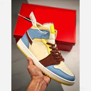 Nike Air Jordan AJ1 Mid SE Fearless Maison Chateau Rouge 2020 New Hot 1 1s Mid SE Chaussures de basket Maison Château Rouge Pâle Vanille Cannelle Chaussures Designer CU2803-200