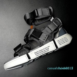 Fashion Sandals Men Shoes New Summer Super High Quality Male Casual Shoes Wedge Chunky Comfortable Gladiator High Top Sandal l15