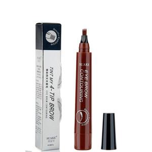 SUAKE EĞİM MY 4-TIP BROW Sıvı Kaş Kalemi Su geçirmez Mikro BLADING Çatal Tip İnce Kroki Kaş Dövme Ton Kalem Kore Kozmetik