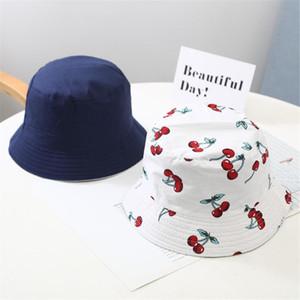 La moda de Harajuku sombrero del cubo de 2-4 años Pesca Sun de los niños del sombrero de playa del verano Pescador Beach Sun gorro pescador