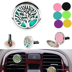 Car Charger Aromatherapy Essential Oil Diffusers Clip With Felt Pads Perfume Locket Box Clip Randomly 20 Design Box Pack TO869