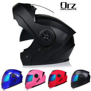 Flip Motorrad-Sturzhelm Racing Modular Dual Lens Motocross Moto Helm Integralhelme Up Casco Moto Capacete Casque S-XL