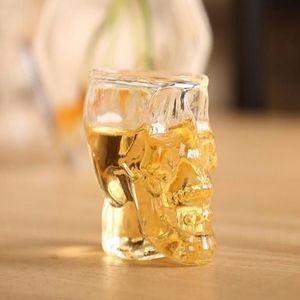 Mode Tassen Kristall Schädel Kopf Form Wodka Wein Glas Pirat Vaccum Bierglas Becher Verein Kleine Skeleton Cups WY301Q