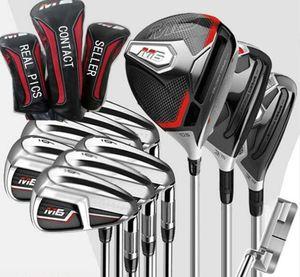 Rápido frete grátis Golf Putter + Full Set M-6 Golf clubes Motorista # 3 # 5 Fairway Woods, + Golf Irons Real Fotos Contactar vendedor