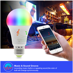 WIFI Smart LED Bulb work with Amazon Alexa & Google Home RGB + Warm Light + White Light E27 7W AC85-265V LED Bulb Light