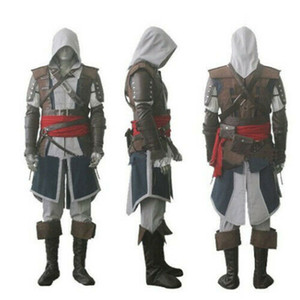 Assassin 's Creed IV 4 Drapeau noir Edward Kenway cosplay costume ensemble Custom Made Expédition express