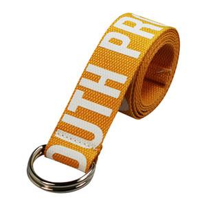 Cintura Donne Accessori tessitura Decorative Canvas D-Ring Buckle fascia della vita Lettera regolabile Stampa adulti casual Tutto Ampia