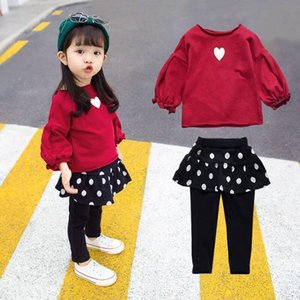 Childrens Clothing Girls Autumn Set 2019 New 1 Kids Clothes 5-Year-Old Children Childrens Western Style Baby Two-Piece Set