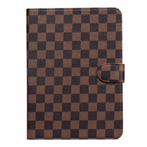 Caso di modo classico Monogram con il basamento e Folio per iPad Air per Cuoio Ipad Mini copertura Premium Cash pockes Shell con chiusura magnetica