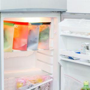 Silicon Wiederverwendbare Speicher-Beutel, BPA frei Gefrierbeutel, Leakproof Wiederverwendbare Sandwich Taschen, wiederverwendbare Snack-Beutel, Ziplock Mittagessen Taschen