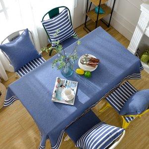 Toalha de mesa de estilo mediterrâneo toalha de mesa retangular pano de mesa corredor toalha de mesa Toalha de mesa de chá Toalha