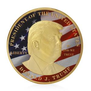 2020 Donald Trump Монета Президента Выборы сделать Америку Великой Снова золото / серебро гальванического Памятный знак