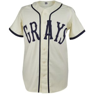 Personalizado Josh Gibson Homestead Grays Negro League Baseball Jersey New 20 Stitch Costurado Qualquer Nome E Número