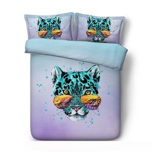 3D Leopard Bedding Cover Wildlife Duvet Cover Sets Teens Boys Decorative 3 Piece Bedspread With 2 Pillow Shams No Comforter
