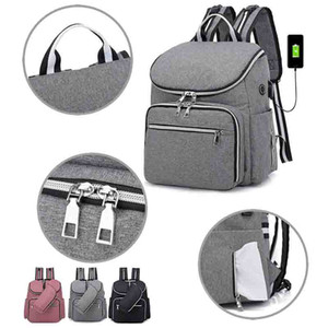 Travel Fashion Mummy Bags Maternity USB Diaper Baby Bag Kanken Backpack Waterproof Multifunction Baby Stroller Diaper Bolsa Care Skbgu