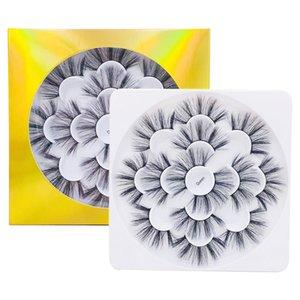 7쌍 꽃 트레이 속눈썹 연장 거짓 스트립 속눈썹 혼합 된 고급스러운 3D 5D 대한 handmake 가짜 밍크 속눈썹을 예약