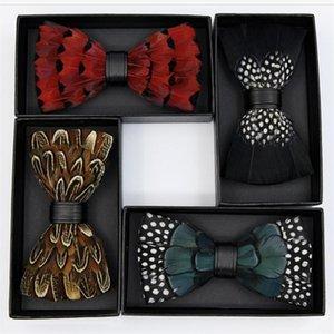 feinste Fliege Federn PU Fliege Schmetterling neue Krawatten Abend Party Hochzeit cosplay zeigt Zubehör verstellbaren Gurtes