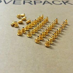 50 adet Yüksek Kalite Beyaz K Renk Bullet Küpe Geri Fiş Küpe Ayarları Baz Kulak Çiviler Geri Tüm Satış ES3