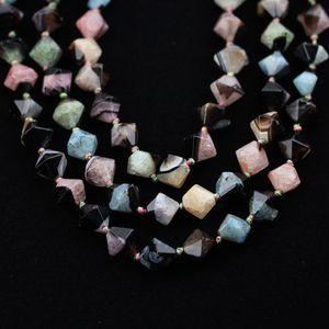 Renkli Doğal Druzy Agates Nugget Boncuk, Kolye El Sanatları için Pürüzsüz Faceted Gevşek Takı