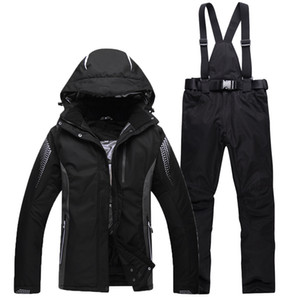 Kapuze Frauen Skianzug Female Snowboarding Anzüge Wasserdicht 10000 super warmer Ski Jacket + Pants Outdoor Sport