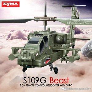 SYMA S109G RC Helicopter 3.5CH interior Rádio Controle Remoto Brinquedos helicóptero para meninos presente das crianças