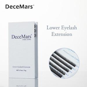 DeceMars Нижняя Ресницы Extension 5 мм 6 мм 7 мм Длина ресниц Принадлежности Under Lash Extension Lower