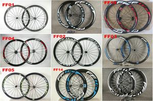 중국 OEM FFWD 50mm 탄소로드 바퀴 wheelset clincher / 관형 무광택 / 광택 자전거 wheelset 많은 색상