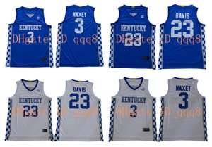 NCAA Kentucky Wildcats jerseys 3 Tyrese Maxey 23 Anthony Davis blanco azul de baloncesto de la universidad de New