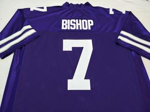 Benutzerdefinierte Männer Jugend Frauen Weinlese Rare Kansas State Wildcats Michael Bishop # 7 Fußball-Jersey-Größe s-4XL oder benutzerdefinierten beliebigen Namen oder Nummer Jersey