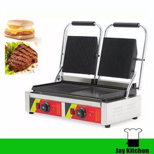 상업용 이중 접시 panini 그릴 바베큐 기계 전기 철판 샌드위치 제조 업체 전기 panini 기계 스낵 장비
