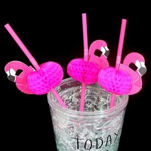 10 * Bendable plastique Cocktails Flamingo anniversaire de mariage Pailles à Boire Halloween fête de Noël Dropshipping