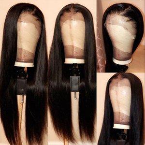 Tam 360 Dantel Frontal Peruk PrePlucked Derin Dalga% 180 Yoğunluk Malezyalı Remy Dantel Ön İnsan Saç Peruk İçin Siyah Kadınlar