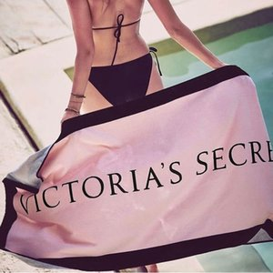 Pink Color Victorie Letter Blanket Soft Beach Towel Bath Towels Swimming Camping Bath Yoga Mat Beach Chair Cover
