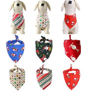 Собака Одежда Рождество Собака Костюм треугольных банданы Pet шарф для собак Кошки шейного собака Одежды рождественских украшения Pet DHL WX9-1803