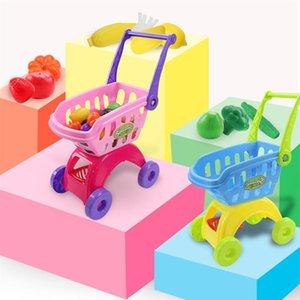 Children Shopping Cart Toy Mini Shopping Cart Toy for Children Cosplay Use Shopping Cart 24 pcs Items and Express Box